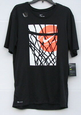 9a97f4156662 NEW Mens The NIKE TEE Dri-Fit Athletic Cut Shirt Black Basketball Size XL  NWT
