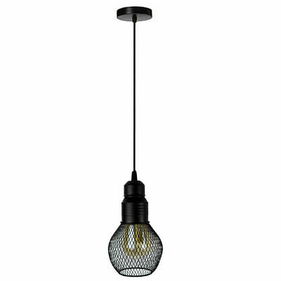 Vintage Industrial Style Metal Net Cage Ceiling Pendant Light Lamp Shades UK