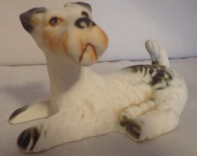 Dog Figure Figurine Fox Terrier Wire Hair Wirehaired Lefton Bone China Vintage