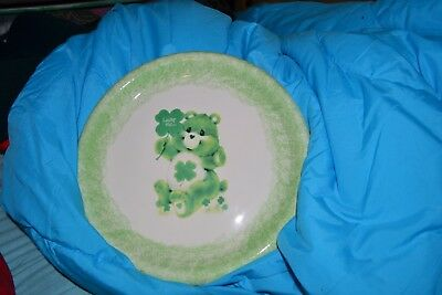 Care Bear Irish collectible ceramic plate shamrock display St. Patrick's Day