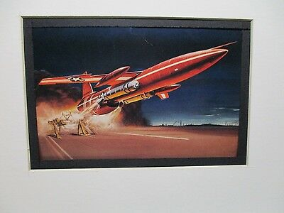 Northrop SM 62 Snark Revell  Model Airplane Box Top Art Color  artist G2