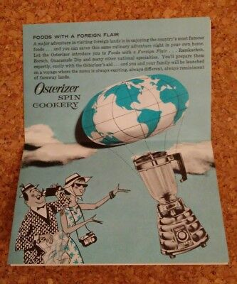 Foods With A Foreign Flair 1964 Osterizer Spin Cookery recipe booklet