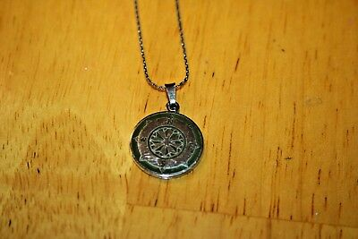 85ff97dc2f4f4b ALEX & ANI COMPASS Necklace in Silver Color-Preowned-sold as is ...