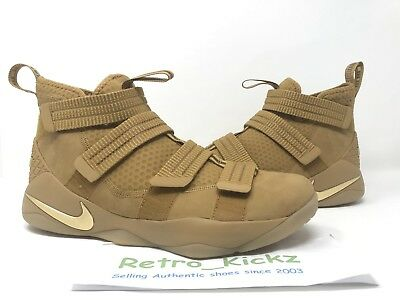 e83c4d8da3e 897646 700 Nike Lebron Soldier Xi 11 Sfg Wheat Gold Brown Basketball Shoes  12