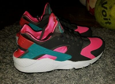 7c06f1eb90f5 Nike Air Huarache Hyper Pink Black Cactus South Beach Sz 10 (318429-600)