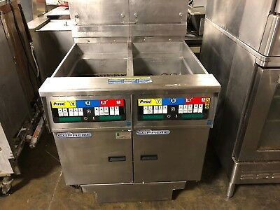 2013 Pitco Solstice Supreme SSH55 Double Natural Gas Fryer w/ Filtration