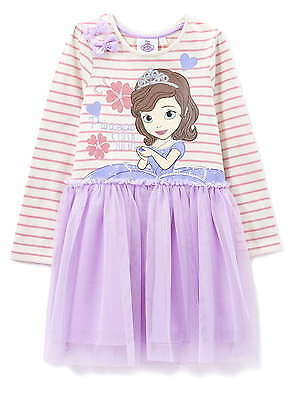 Girls Dress Disney Sofia the First Party Dress  2-6 Years NEW