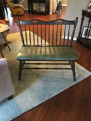 Vintage Unique Solid Wood Spindle BENCH With Hand Grips