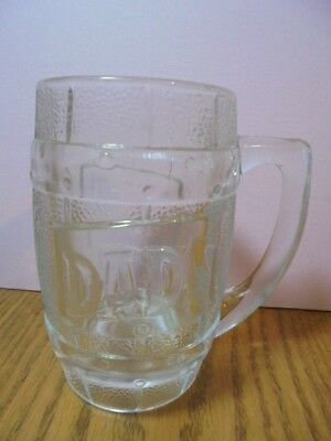 Fs Vtg Dad's Root Beer Mug Barrel Design Heavy Glass