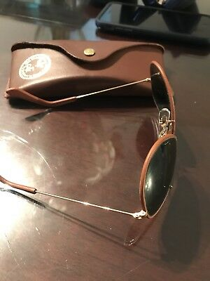 3690c84700 Ray Ban RB3422Q 9041 Aviator Brown Leather Frame Brown B15 58mm Lens  Sunglasses