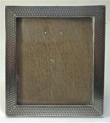 Antique hallmarked Sterling Silver Fronted  9.6cm x 8.6cm  Photo Frame – 1915