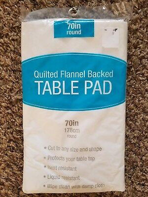 DINING CUSHIONED TABLE Pad Protector With Flannel Backing Desk Hot - Cut to fit table protector pads