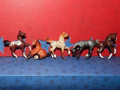 Breyer Mini Whinnie  SET OF 5 FOALS ~ 2 PRANCING~1 PLAYFUL~ 1 SITTING ~1 GRAZING
