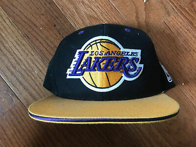 watch 4685f 5429a Mitchell   Ness Los Angeles Lakers Snapback Big Logo Hat