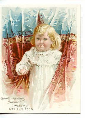 Cute Baby-Mellin's Food-Infant-Invalids-1892 Victorian Advertising Trade Card