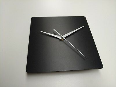BLACK Wooden Square Wall Clock Face without Mechanism, UNIQUE QUALITY