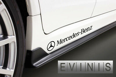 Mercedes Benz 2x Side Skirt Stickers Car Decals DEFAULT BLACK left and right