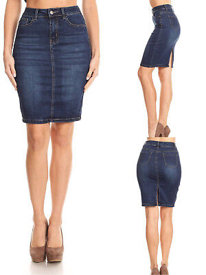 Women Denim Skirts, Pencil Skirt, Sand Washed and Preshrunked, Unique Look
