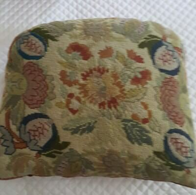 French Antique Needlepoint Cushion-Pillow 1880s ca.