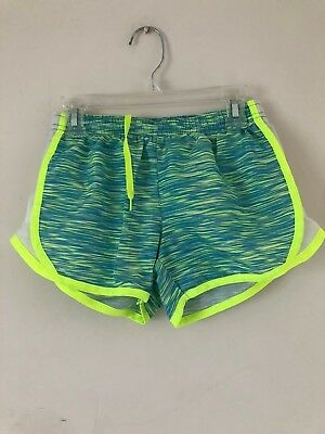 90'Degree Girl's Lined Shorts Color Green/Lime Size S (7-8)  Pre Owned