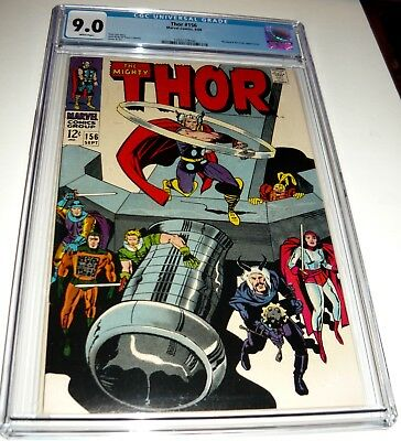 THOR  #156  CGC 9.0 VF/NM ... WHITE Pages
