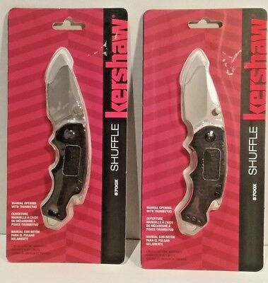 Lot of Two Kershaw Shuffle Lock Blade Knives New In Package