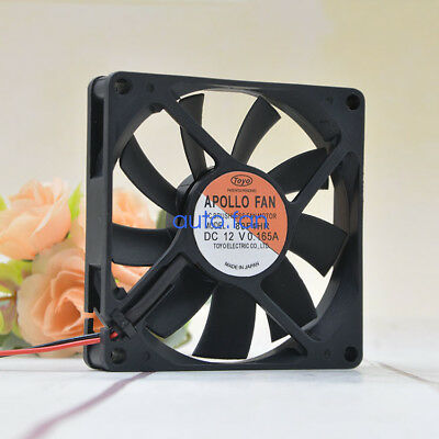 For 1pc Toyo APOLLO 80F4HR Cooling fan 12V 0.165A 2wire 80*15mm