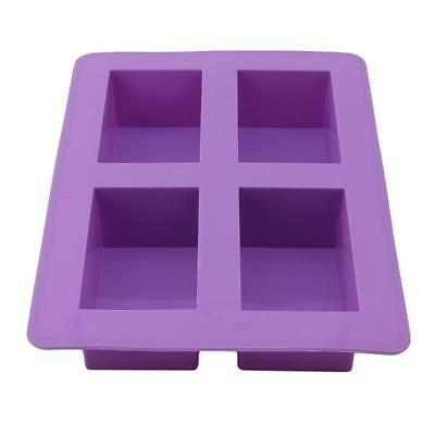 Ice Cake Soap Mold 4-Cell Silicone Mould Handmade DIY For Candy Chocolate