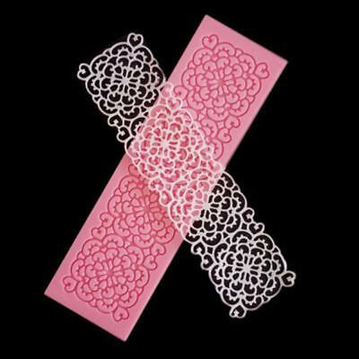 Flower Lace Embossed Mat Mold Sugarcraft Icing Cake Decorating Tools B