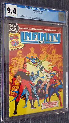 Infinity Inc #1 CGC 9.6 White Pages - First apperance and origin of team!