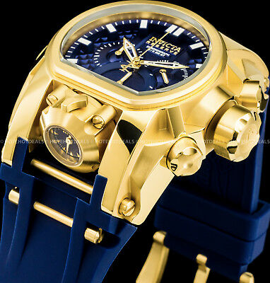 Invicta Reserve 52mm Bolt Zeus Magnum Swiss Dual Movement 18K Gold Plated Watch