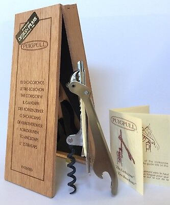 PUIGPULL Corkscrew Spain Design Plus Frankfurt '98 As New In Box $100 Free Post