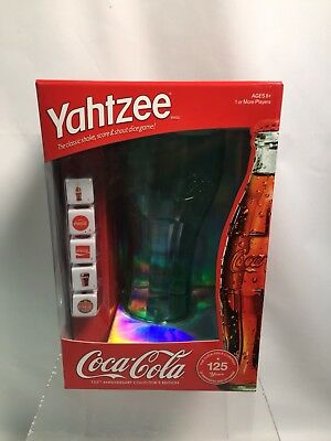 Yahtzee Game Coca-Cola 125Th Anniversary Collector's Edition New In Box 2010