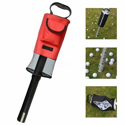 Portable Golf Ball Picker Pick-Up Retriever Pocket Scooping Device Storage Bag