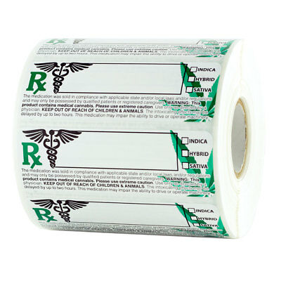 Generic - Strain Rx Medical Mj Compliant Labels - 1,000 stickers - 1 Roll