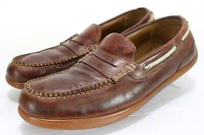 19a7f9a417b Sebago Nantucket Classic  110 Men s Penny Loafers Boats Shoes Size 9 Brown