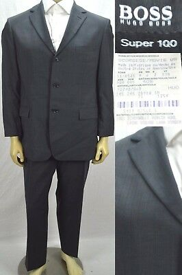 ef96e52f5 Hugo Boss Men's $750 Suit Scorsese Movie Size 40S Short Charcoal Gray  Striped