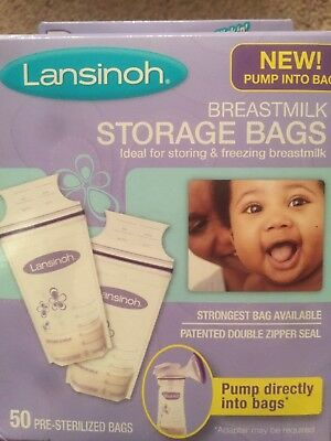 Lansinoh Tmilk Storage Bags 50 Count Pre Sterilized Freeze Bpa Free