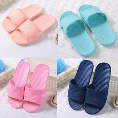 Women Mens Bathroom Bathing Non-slip Slippers Summer Home Soft Shower Sandals w,