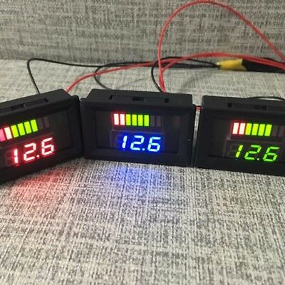 12V Indicator dc Battery Capacity Digital LED Voltage Tester Voltmeter Monitor