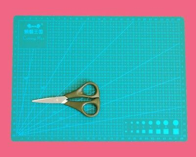 A4 3mm Thick 5 Layers Cutting Mat, Knife Board for Craft with Braid Scissors