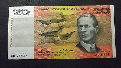 1967 Coombs/Randall $20 Note XBQ First Prefix. Fine Condition.