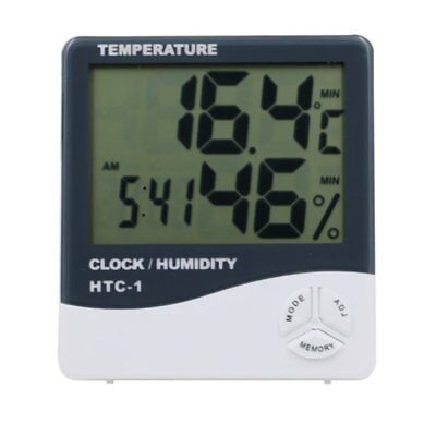 High Precision LCD Digital Thermometer Hygrometer Clock Weather Meters