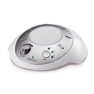 Homedics White Noise Sound Machine  Portable Sleep Therapy for Home Office