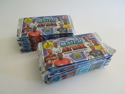 Topps Match Attax 2015 2016 15/16 - 50 Booster Tüten wie Display NEU OVP