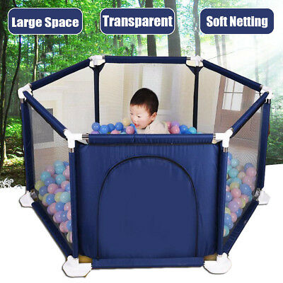 Baby Playpen Portable Kids Safety Play Center Yard Home Indoor Outdoor Fence