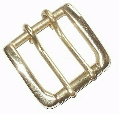 "Double Prong Buckle West End Roller Belt Buckle 1.5"" - 40Mm Brass Or Nickel"