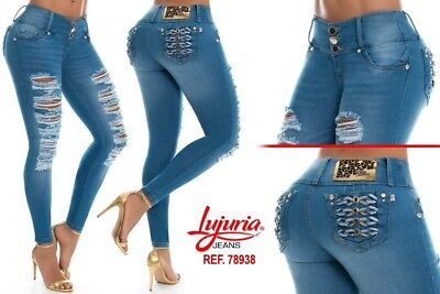LUJURIA  Authentic Colombian Push Up Jeans,Levanta Cola,Jeans Colombianos