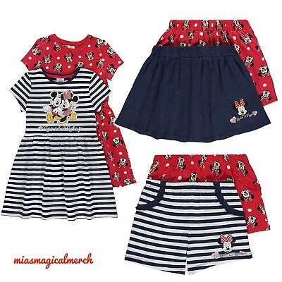 BNWT Baby Girl's Disney Mickey & Minnie 2 Pack Dresses, Skirts, Shorts