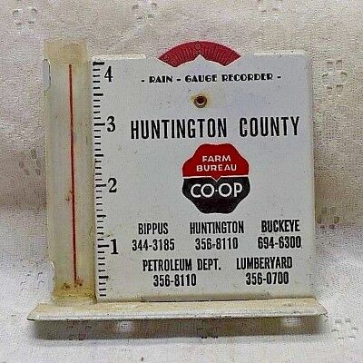 Vintage RAIN GAUGE advertising HUNTINGTON COUNTY FARM BUREAU CO OP INDIANA
